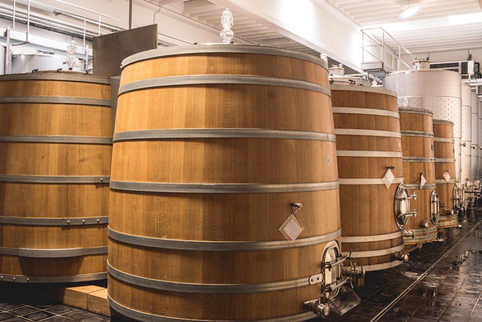 Wooden fermentation vats