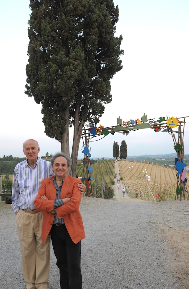 Michele Chiarlo and Ugo Nespolo